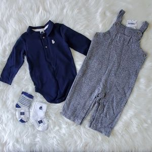Janie and Jack 6-12 🆕️ baby boy lot outfit set